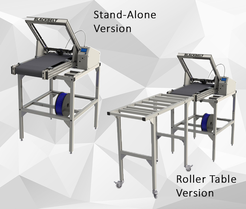 Blackbelt 3D stand alone and roller table version
