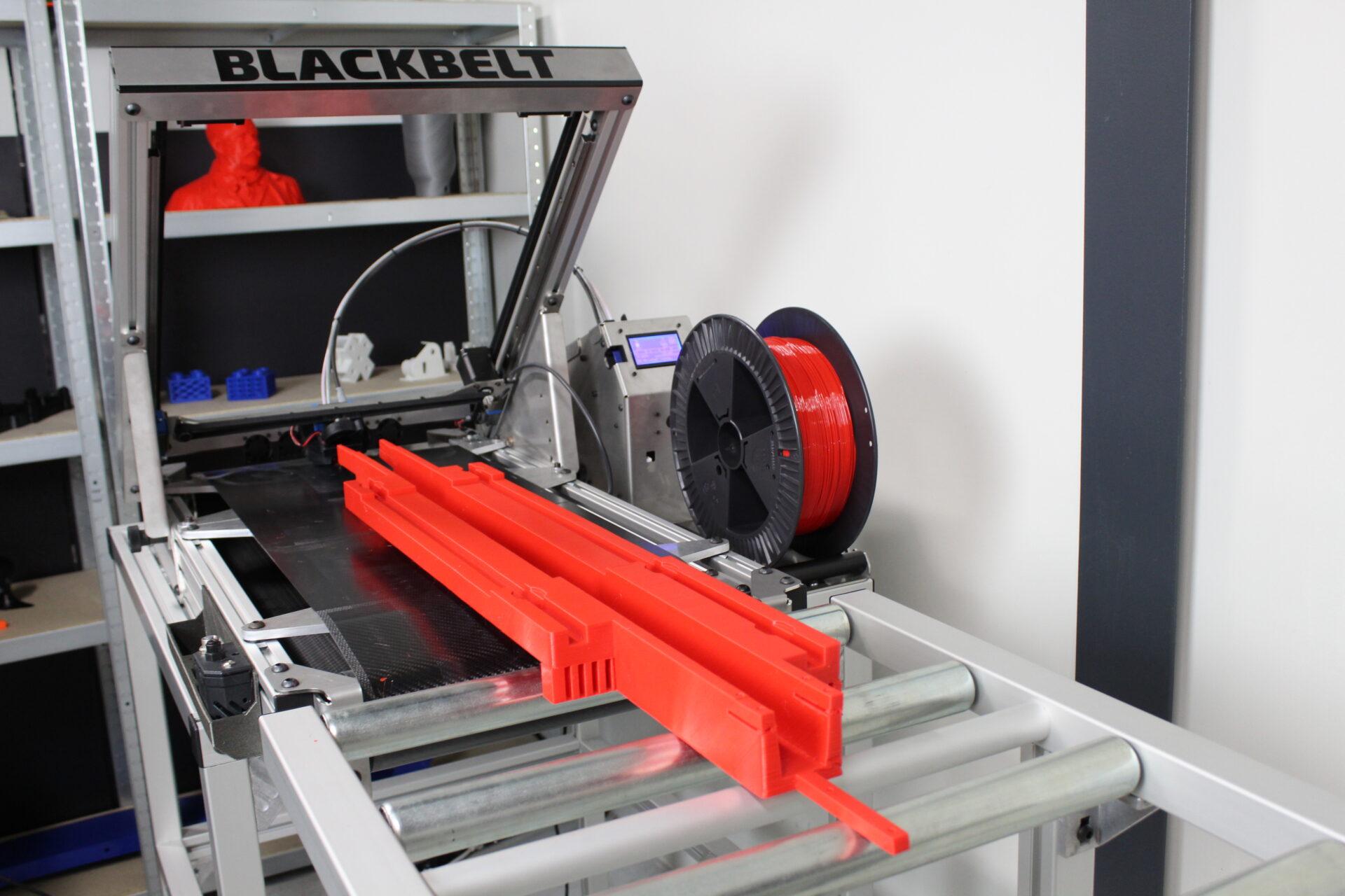 Blackbelt 3D printing long parts